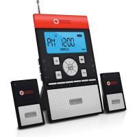 Eton Zoneguard+ Weather Alert Clock Radio System With Wireless Alert Modules - Black