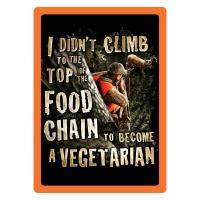 Vegetarian Tin Sign