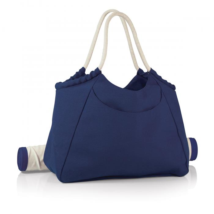 Picnic Time Cabo Beach Tote with Mat, Navy