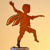 Elegant Garden Design Boy Fairy Silhouette