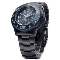 Smith & Wesson Diver Tritium Watch - 40mm w/ Blue Face & Black Rubber Strap