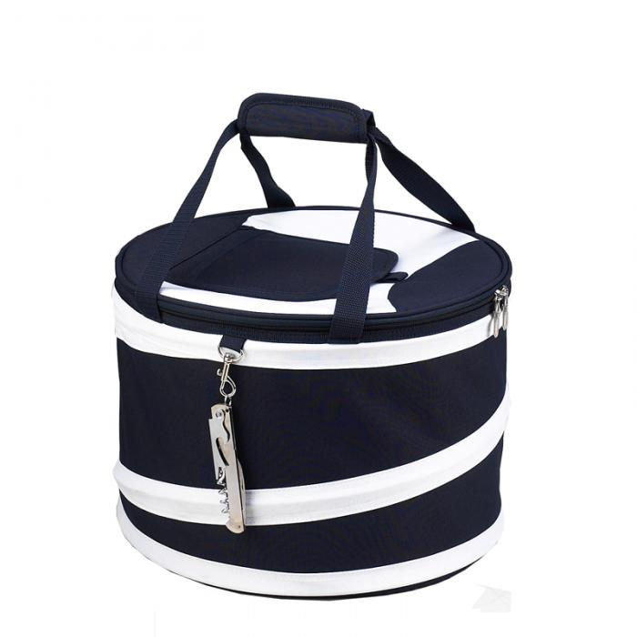 Picnic at Ascot 24 Can Collapsible Cooler -Navy/White