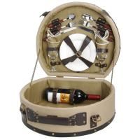 Picnic & Beyond Wooden Picnic Basket for 2
