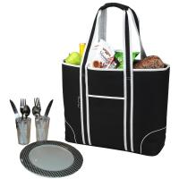 Picnic at Ascot Extra Large Insulated Picnic Bag Equipped for 2 - Black