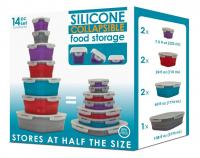 Smart Planet Mulit Color 14 Piece Food Storage Set