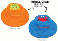 Luvali Convertibles Turtle Crab Reversible Kids' Hat, Large