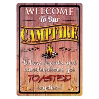 Welcome To Our Campfire Tin Sign