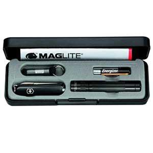MagLite Black Solitaire Light with Cavity for Classic Knife