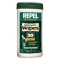 Repel Mosquito Wipes, 30% Deet