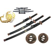 Renegade Tactical Steel Scorpion 3pc Samurai Sword Set