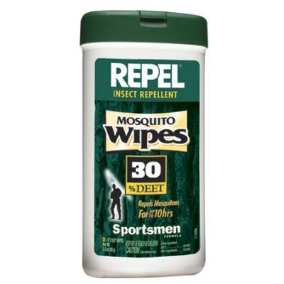 Repel Mosquito Wipes, 30% Deet