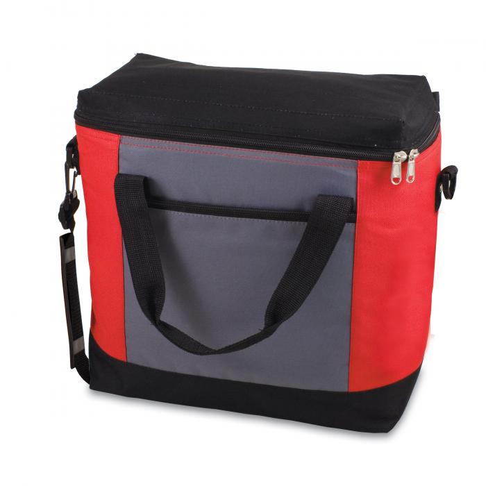 Picnic Time Montero Insulated Cooler Tote, Red,Gray and Black