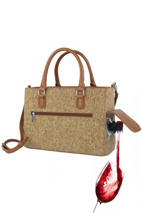 Picnic Gift Wine Color Drink Purse with Wine Bladder