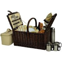 Picnic at Ascot Buckingham Willow Picnic Basket with Service for 4 and Coffee Service - Hamptons