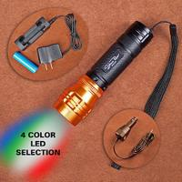 Stone River Gear Adjustable Focusing 4 Color Rechargeable LED Flashlight
