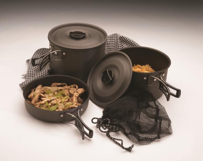 Texsport The Trailblazer Black Ice Hard Anodized Cook Set