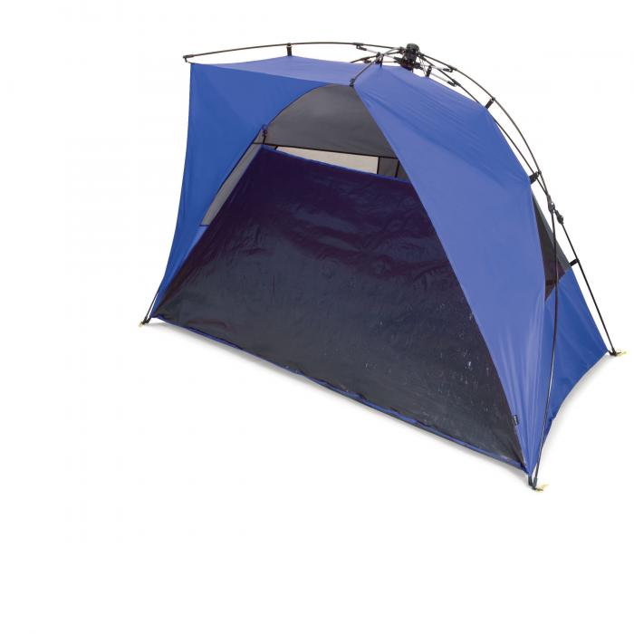 Picnic Time Haven Portable Sun and Wind Shelter, Blue/Grey