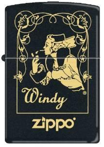Zippo 218 Black Matte-Windy Window
