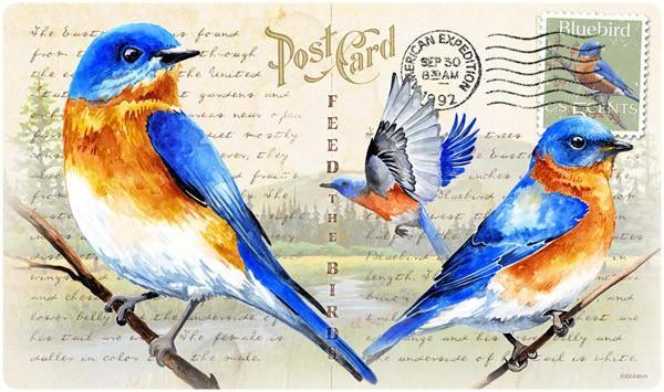 American Expeditions Bluebird Postcard Cutting Board