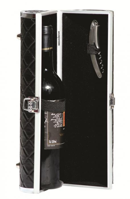 Primeware Gala - Sassy Wine Purse, Black Quilted
