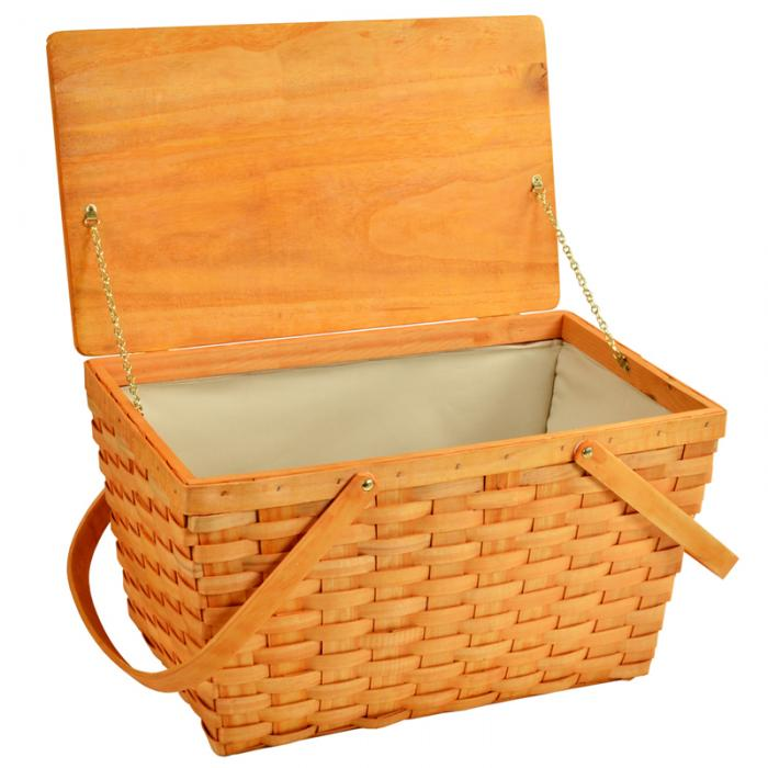 Picnic at Ascot Large Family Size Traditional American Lined Empty Picnic Basket