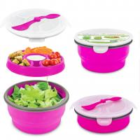 Smart Planet Pink 65Oz Delux Collapsiable Salad