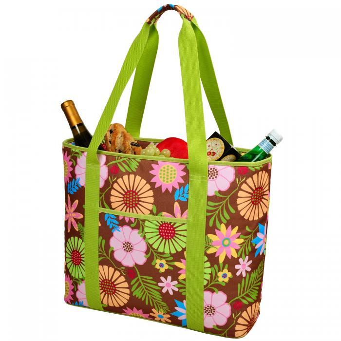 Picnic at Ascot  Extra Large Insulated Cooler Bag - 30 Can Tote - Floral