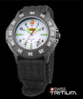 Uzi Protector Watch - Tritium, White Face, Nylon Strap
