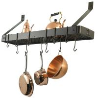 "Old Dutch Oiled Bronze ""Bookshelf"" Pot Rack"