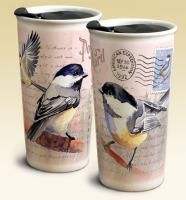 American Expeditions Chickadee Postcard Ceramic Travel Mug