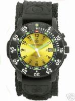 Smith & Wesson Watch Tritium Sports Yellow, Nylon Band