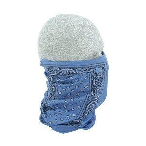 Motley Tube 100% Polyester Facemask, Light Blue Paisley