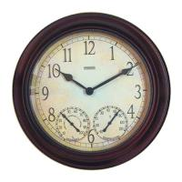 "Springfield 14"" Clock with Thermometer"