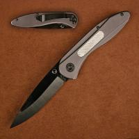 Stone River Ceramic Folding Knife w/Titanium Coated Aluminum Handles & Carbon Fiber Inlay