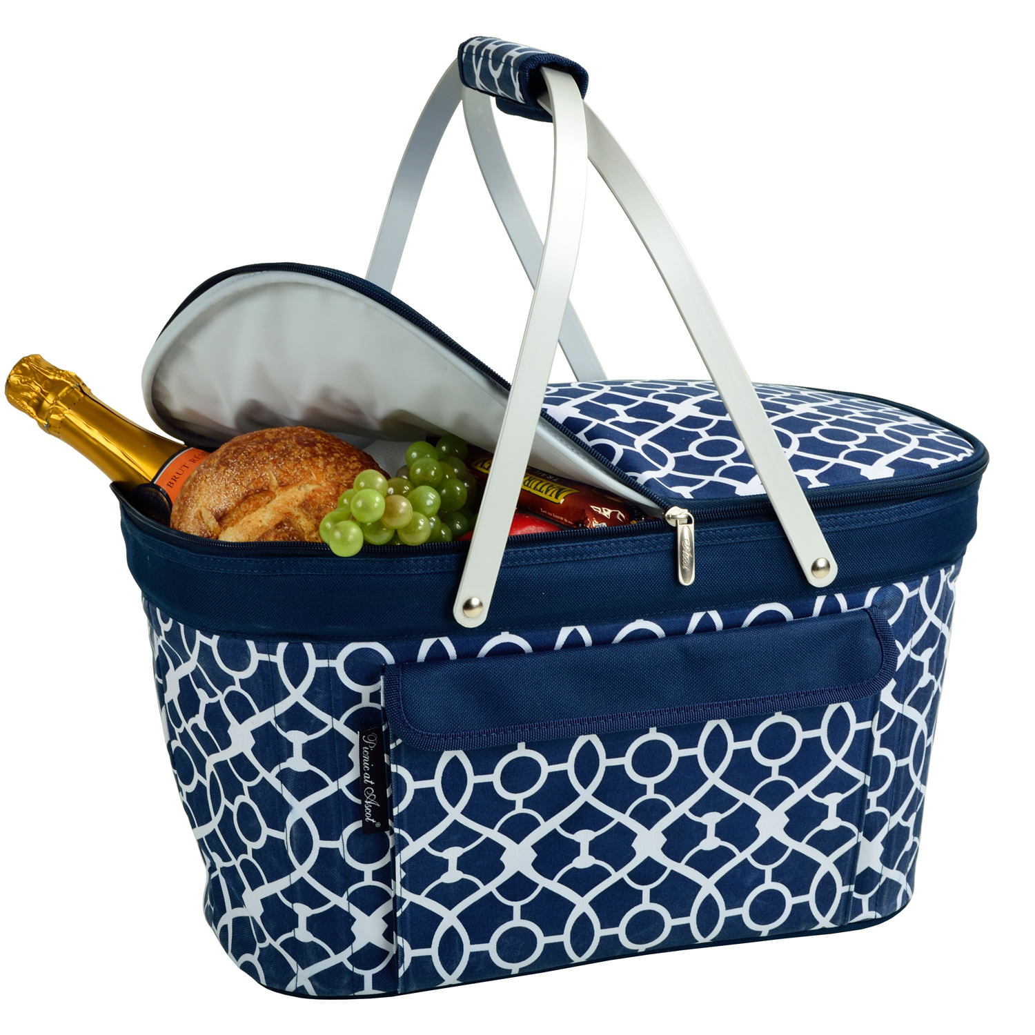 Picnic At Ascot Collapsible Insulated Picnic Basket : Picnic at ascot stylish insulated market basket
