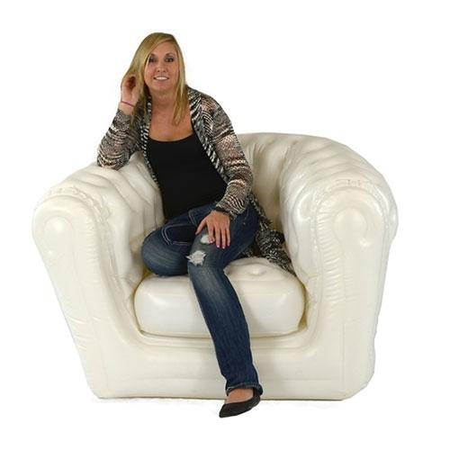 Smart Air Beds Inflatable Chesterfield Chair, White (SUMO000025CW)
