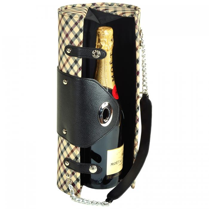 Picnic at Ascot Wine Purse - London Plaid