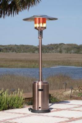 Fire Sense 46,000 BTU Copper Finish Commercial Patio Heater