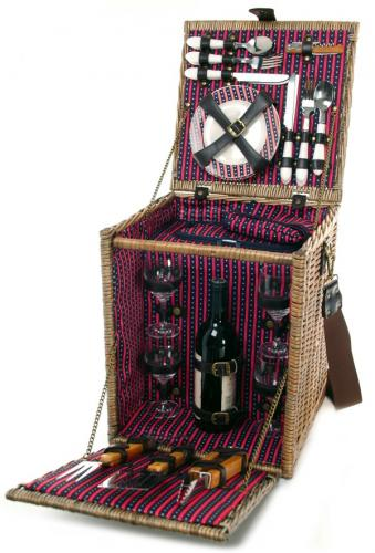 Best Wine Coolers >> Picnic & Beyond Tuscan Deluxe Willow Picnic Basket for ...