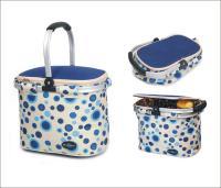 Picnic & Beyond Blue Empty Aluminum Framed Picnic Cooler Basket