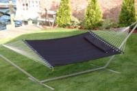 """Bliss Hammocks """"S"""" Stitched Classic Comfort Poly Quilted Hammock - Raven Black"""