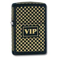 Zippo Black Matte, VIP, Laser Engraved