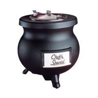 Tomlinson Black 12 qt Deluxe Frontier Soup Warming Kettle, 120 Volt