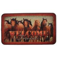 "Rivers Edge Products 18""x30"" Door Mat-horses"