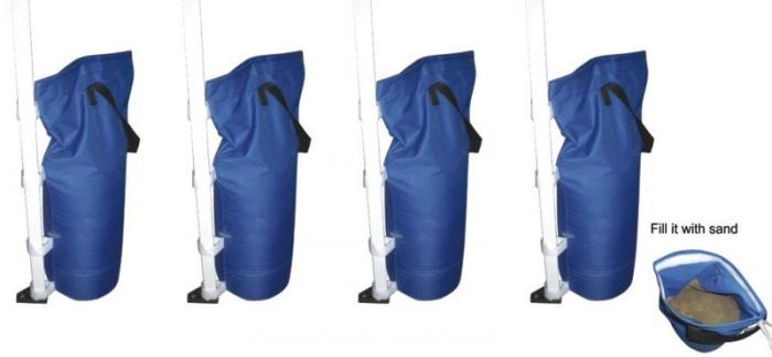 Gigatent Canopy Sand Bags, Blue (Pack of 4)