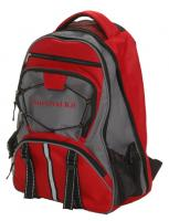 Guardian Large Multi-Pocket Hikers Backpack (Red)