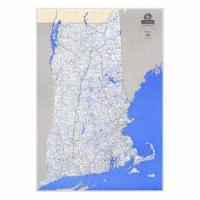 Laminated New England Stream Map