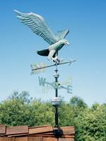 Copper Eagle Weathervane - Verdigris