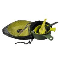 Wildo Eating Essentials - Two Person Set - Olive/Lime