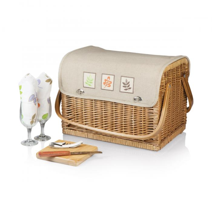 Picnic Time Kabrio Wine Basket -Botanica